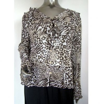 Fosby - Animal Print Blouse - Brown / Code: E6540